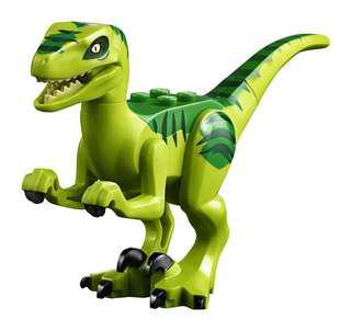 Lego Jurassic World Fallen Kingdom Bright Green Velociraptor