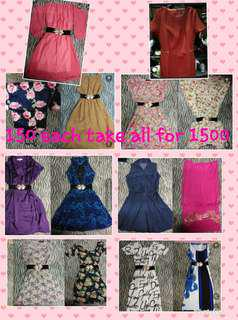 Dress 100 each take all for 1200