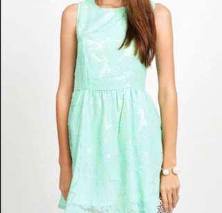 Love and bravery Persian rose dress in mint