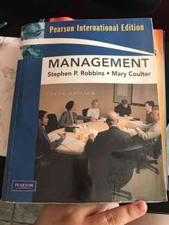 Pearson International Management Textbook 10th