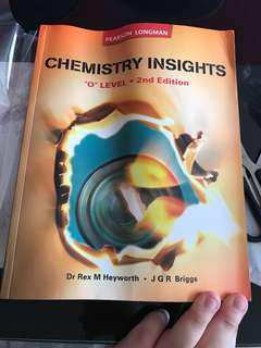 Chemistry insights o level second edition textbook