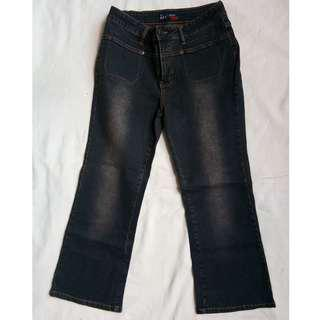 Zion Jeans Dark Brown Capri Bootleg