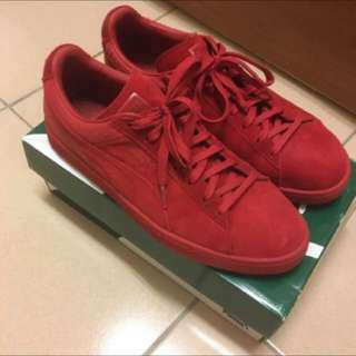 🚚 Puma Suede Classic Casual Emboss Cherry Red 紅色