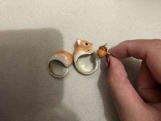 Mushroom mary lou 松鼠 戒指