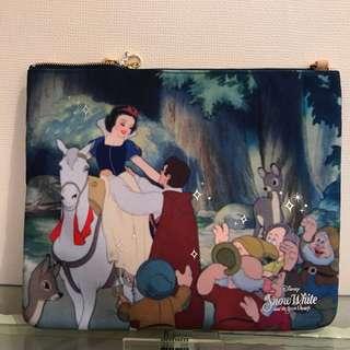 🚚 Samantha Disney 迪士尼 白雪公主 帆布 手拿包 側背包