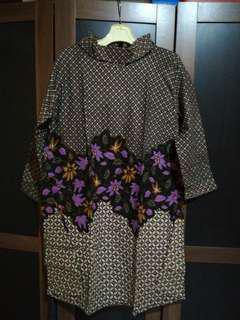 Dress batik turtle neck