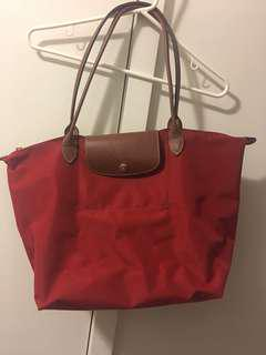 LONGCHAMP Le Pliage Tote Bag in red 😍
