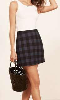 Reformation Stratford mini skirt