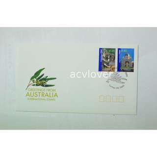First Day Cover Greetings from Australia International Stamps 2006
