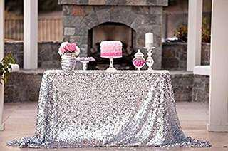 RENTAL Silver Sequin Table Cloth