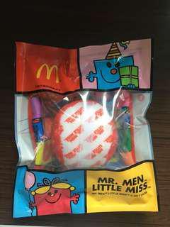 Mr. Men Little Miss McDonald's 生日會禮物