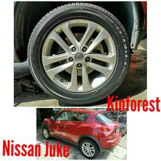 Tyre 225/55 R17 Kinforest on Nissan Juke 🙋‍♂️ The price shown is estimated