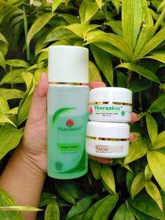 (PRELOVED) theraskin paket acne white tanpa face wash