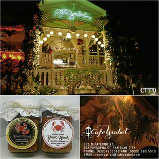 Yunik Uneek ORIGINAL PUREST Crab Paste Now available at Cafe Ysabel