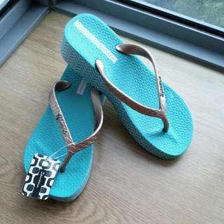 EUR 36 Ipanema Green Wedge platform slippers havaianas havianas fitflop