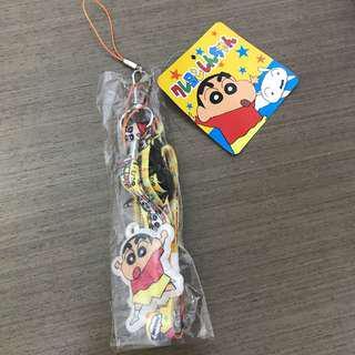 購自日本 蠟筆小新 臼井儀人 100%正品 電話頸繩 八達通頸繩