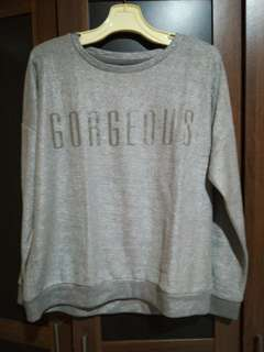 Sweater grey glitter