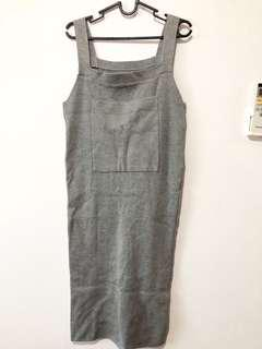 Bodycon Knit Dress in grey