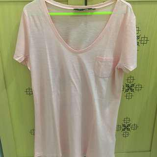 NEW LOOK PINKY SALMON T-SHIRT
