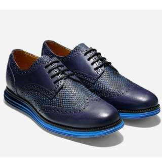 Cole Haan Men's ØriginalGrand Wingtip Oxford (Limited Edition Blazer Blue Snake Print)