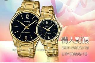 💏💏💏6折全新行貨卡西歐情侣防水行針鋼錶-40% Off Brand New Original Casio Sweetheart Water Resistance Analog Metal Watch