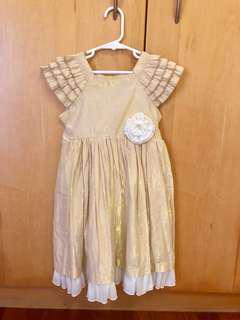 Gold Shimmery Party Dress - Sz 7