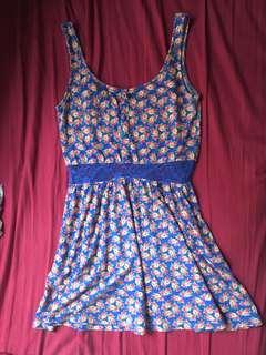 Factorie floral dress 藍色碎花連身裙