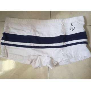 Male Boxer Underwear Anchor Cotton Briefs