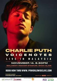 Charlie Puth Voicenotes Tour Kuala Lumpur tickets