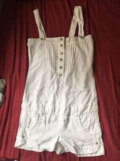 Bershka white jumpsuit romper 白色連身褲