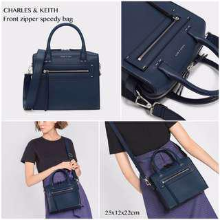 Original Charles & Keithh Front Zipper Spedy Bag