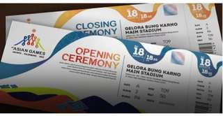 Tiket VIP Opening Ceremony Asian Games