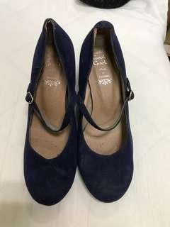 🚚 二手 藍色高跟鞋
