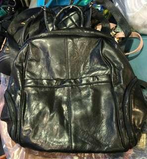 E1968 羊皮背囊 Sheepskin Leather Backpack