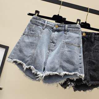 🚚 Basic Denim Shorts (Light Blue | Frailed )| BNWT)