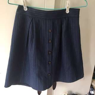深藍綠間條裙 dark blue skirt with green stripes
