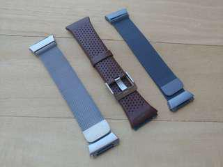 🚚 Fitbit Ionic Milanese, Metal, Leather Replacement Strap band