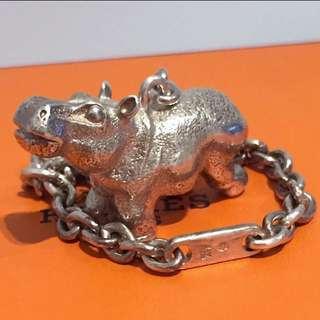 極稀有 愛馬仕 限量版 純銀 裝飾品 吊飾物 Hermes Sterling Silver 925 Charm Hanger