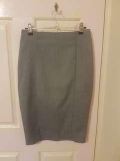 Forcast grey pencil skirt