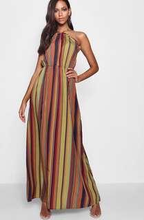 Halter cut out maxi dress- size 10