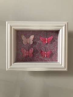 Nursery room butterfly frame