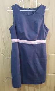 Forever 21 navy blue sleeveless dress