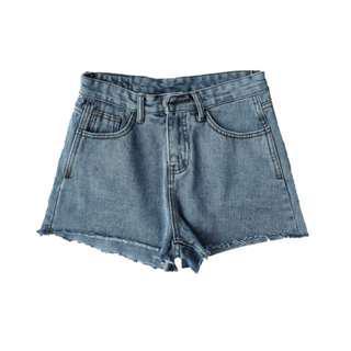 🚚 Basic Denim Shorts (Acid Washed Blue | Frailed | BNWT)