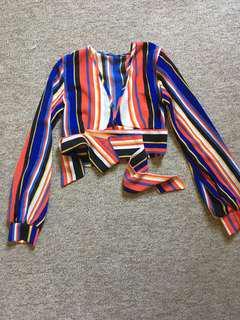 Long sleeve crop blouse