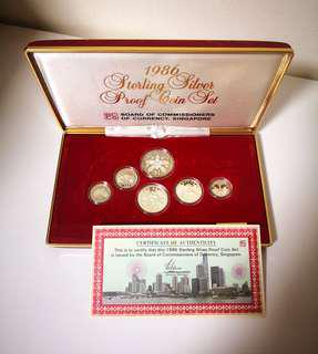 🇸🇬 Singapore 1986 Sterling Silver Proof Coin Sets