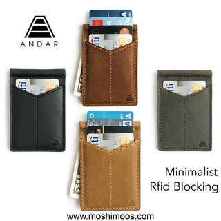 🚚 The Baron by Andar Wallet, slim rfid Blocking money clip wallet