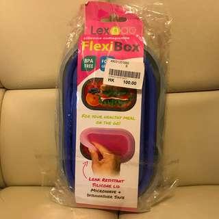 Lexngo 矽膠可摺疊麵條盒連餐具