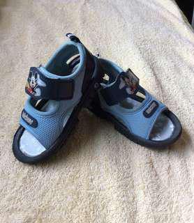 7/10 Disney Micky Mouse light & dark blue straps baby / toddler / kids boy sandals shoes size 14.5 / 23 15.5cm