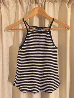 Striped top size 8