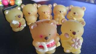 Forever Friends Bear 膠公仔x7個